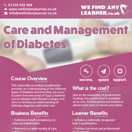Care and Management of Diabetes