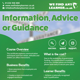 Information, Advice or Guidance