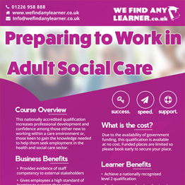 Preparing to Work in Adult Social Care