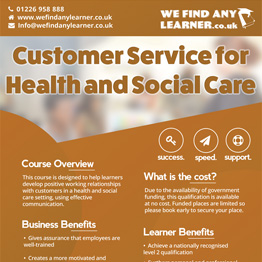Customer Service for Health and Social Care