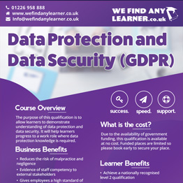 Data Protection and Data Security GDPR