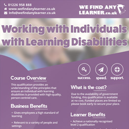Working with Individuals with Learning Disabilities