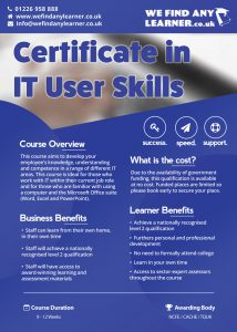 Certificate in IT user Skills page 1